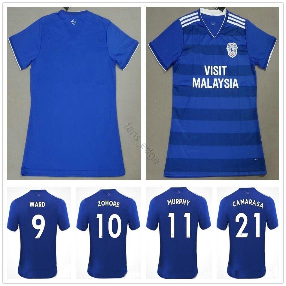5e5e18cb782ce 2018 2019 Camiseta De Fútbol De Calidad Tailandesa 9 WARD 10 ZOHORE 11  MURPHY 21 CAMARASA HOILETT 14 DECORDOVA REID Camiseta De Fútbol Azul  Personalizada ...