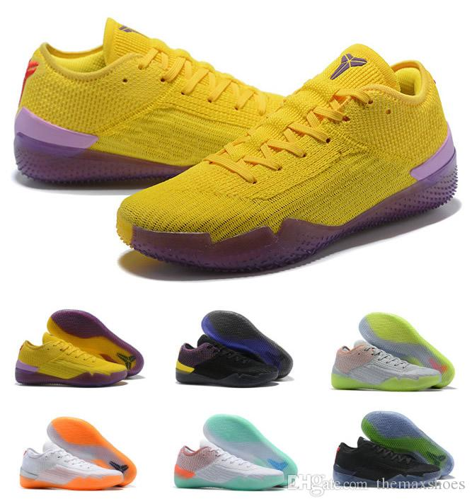 brand new b2262 ad7e4 Großhandel Hot Kobe 360 NXT A. React Herren Basketball Schuhe Gelb Strike  Derozan Mamba Tag Bryant Hochwertig Mehrfarbig Mehr Farbe US7 US12 Von ...