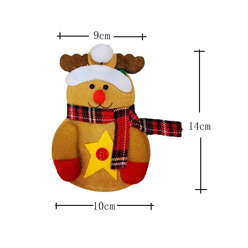 Sale 1 PC Elk Diverse Christmas Pockets Silverware Knife Fork Set Bag Snowman Cutlery Santa Cute Cap Hat Dinner Table Decor Red