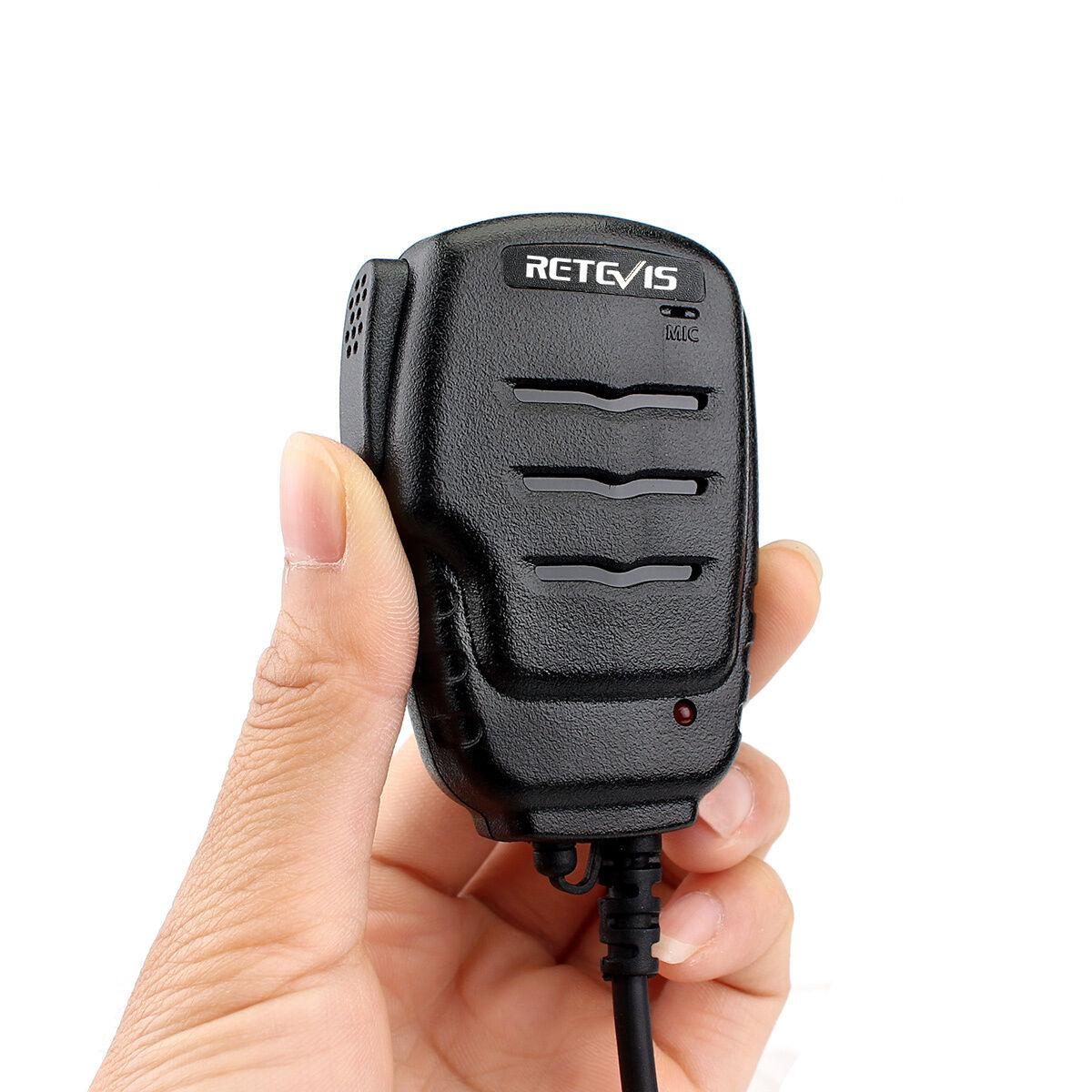 2PIN Retevis RS-111 Remote Speaker Microphone for H777 Baofeng UV5R RT21 Kenwood