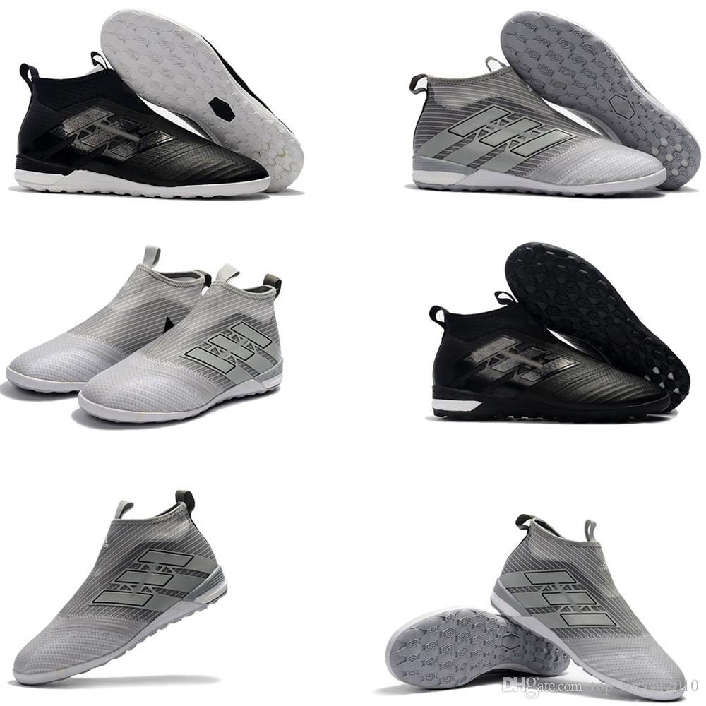 42eedd86c67 2019 2018 High Top Mens Soccer Cleats Ace 17 Crampons De Football Boots  Indoor Soccer Shoes ACE Tango 17 Purecontrol IN TF Turf High Quality Hot  From ...