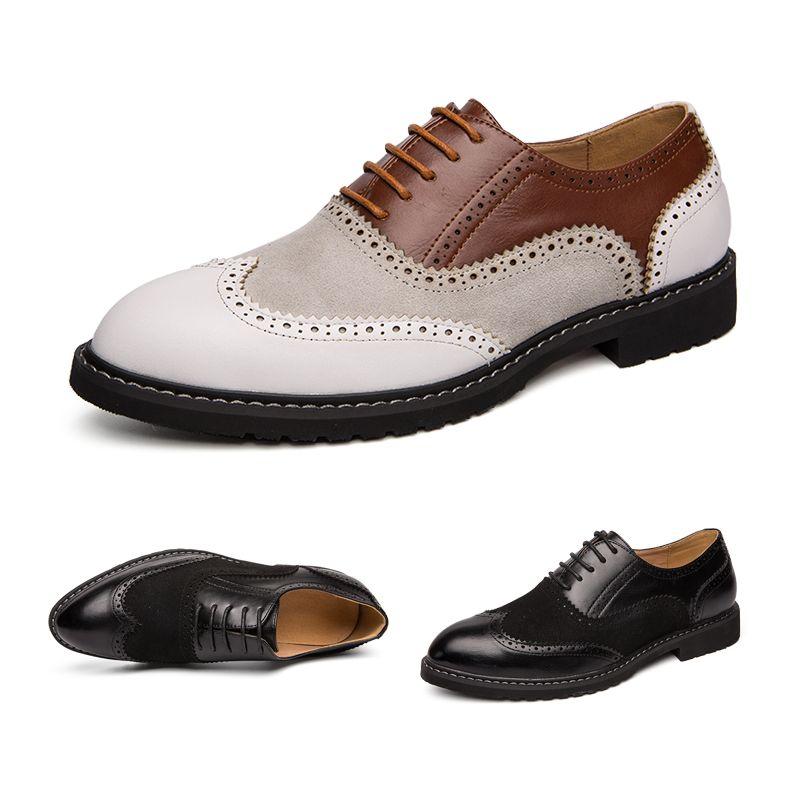 Luxury Mens Oxfords Size 38 46 PU