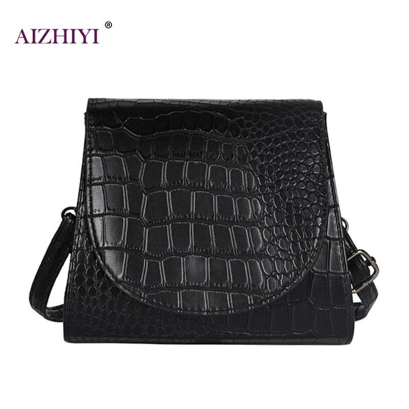 5025be7d8cc1 Alligator Pattern PU Leather Crossbody Small Flap Bag Wide Shoulder Bags  Vintage Crocodile Fashion Simple Messenger Bag Bolsas