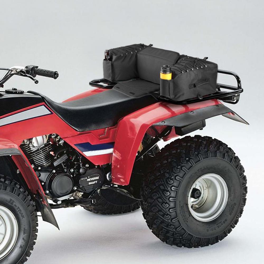 a42155e359449 Satın Al KEMiMOTO ATV Siyah Arka Çanta Yastıklı Koltuk Alt Desteği Depolama  Paketi Raf Geri Off Road, $98.63 | DHgate.Com'da