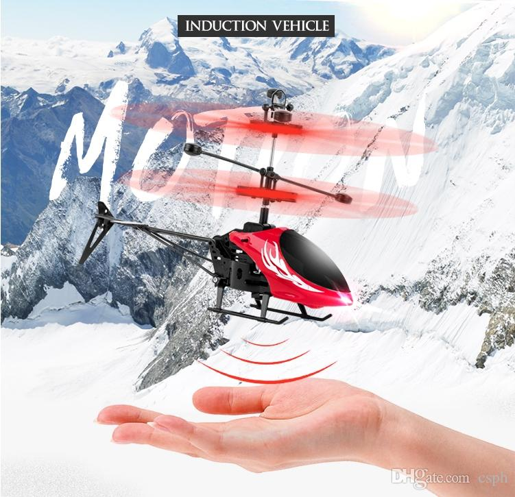 RC Helicopter Toys Induction aircraft charging remote control aircraft boy girl child vibrating toy suspension aircraft helicopter gift