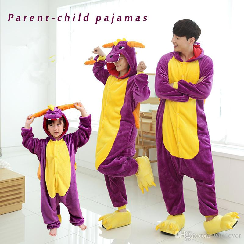 ff646fa30 Adult Kids Purple Dragon Onesie Anime Costume Flannel Cosplay Animal  Costume Pyjamas Halloween Carnival Jumpsuit Loose Masquerade Outfit Buy  Cosplay Online ...
