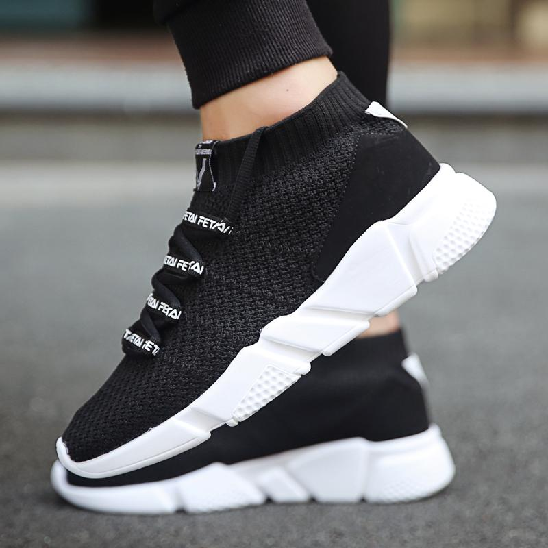 2019 Men Shoes Ankle Boots Sneakers High Top Comfortable Casual Shoes Fashion For Male Lightweight Breathable Sapatos Masculinos Cool In Summer And Warm In Winter Men's Shoes