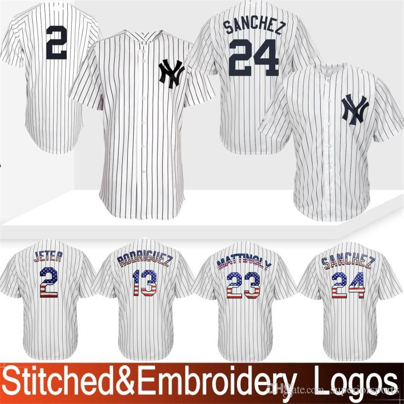 san francisco 47323 72ada 24 Gary Sanchez New York Jersey Yankees 99 Aaron Judge 23 Don Mattingly 7  Mickey Mantle 42 Mariano Rivera 3 Babe Ruth