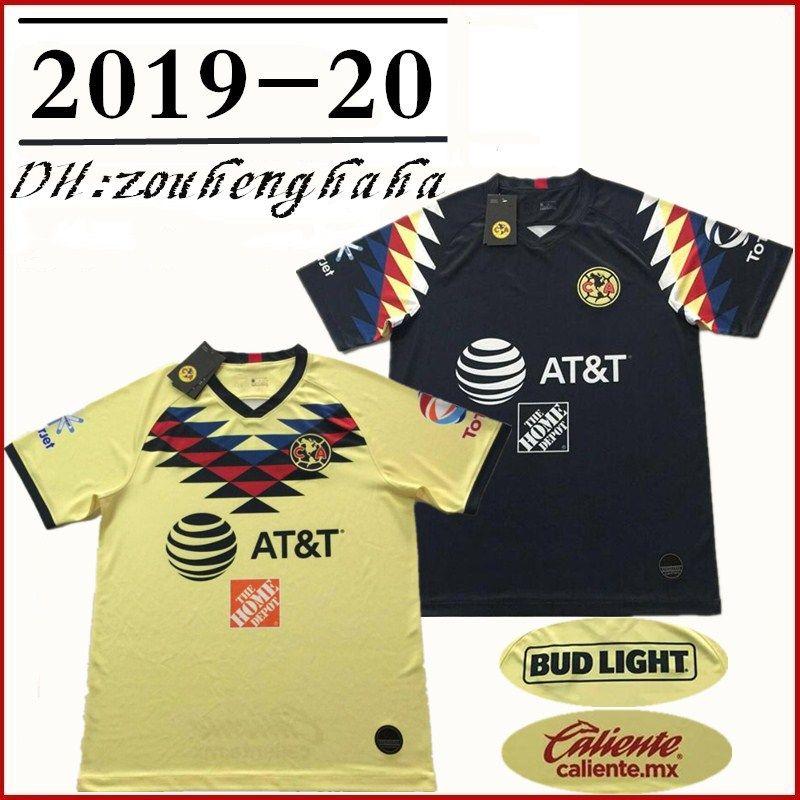 official photos 68e71 42fe2 Club America jerseys 2019 20 LIGA MX 24# O.PERALTA 8# MATHEUS 10#  C.DOMINGUEZ 14# R.SAMBUEZA 22# P.AGUILAR Football Shirt