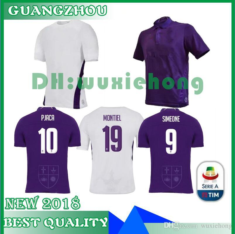 d053dbdc9df 2019 2018 2019 News CHIESA Soccer Jersey Home Away 1819 PJACA SIMEONE  GERSON PEZZELLA CHIESA ASTORI Purple 25 CHIESA Football Shirt Size S XL  From Wuxiehong ...