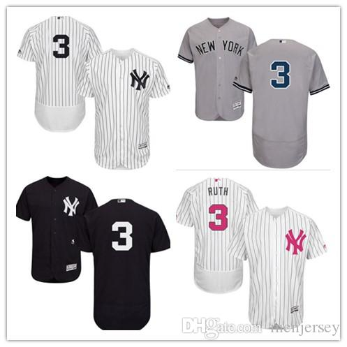Jersrys Yankees York3 Femmes Ruth Hommes New Acheter Babe