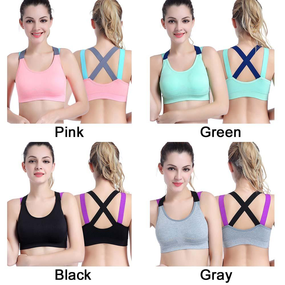 0631fddc153 2019 Fitness Underwear Push Up Cross Straps Yoga Running Gym Femme Active  Wear Padded Sexy Sports Bra Top For Female From Duriang