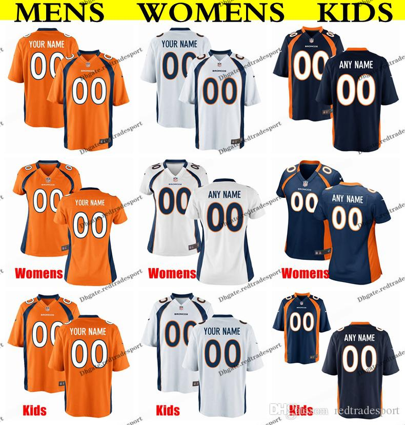 new concept d11c7 e543c Customize Denver Mens Womens Kids Broncos 5 Joe Flacco 18 Peyton Manning 14  Courtland Sutton 47 Josey Jewell 80 Jake Butt Football Jersey