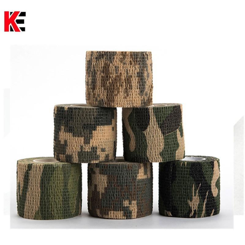 Military Camouflage Adhesive Tape Security Protection Waterproof Elastic Self Adhesive Medical Elastic Bandage First Aid Kit Gun (18)_