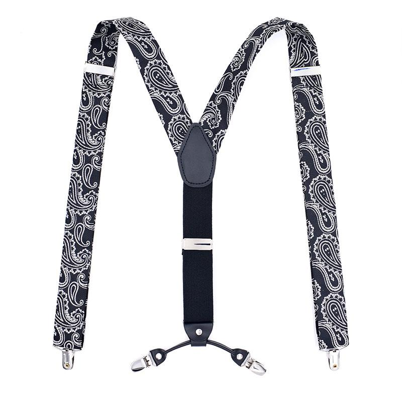 5bd764c3403e1 Fashion Men S Suspenders Casual Braces Leather Suspenders Adjustable 4 Clip  Belt Strap Bretelle Suspensorio Hommes Bretels Brace Nightwear Garters From  ...