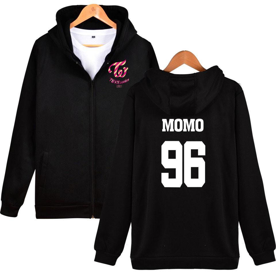 Women's Clothing Twice Kpop Sweatshirt Hoodies Women Harajuku Shirt Winter Jacket Women 2019 Cotton Hooded Letter Korean Version Plus Velvet
