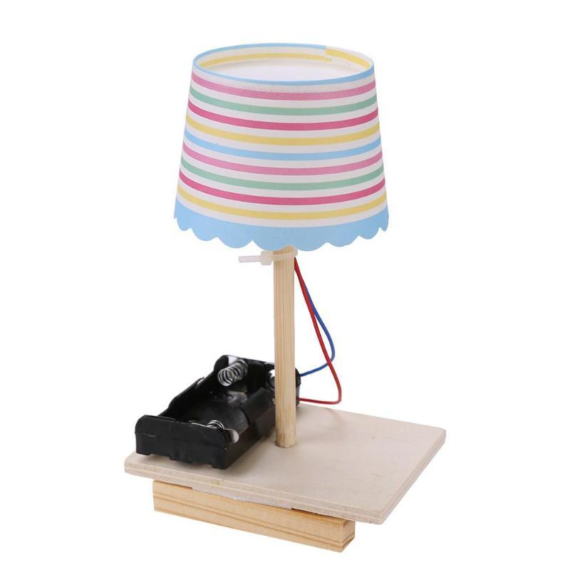 DIY Paper Cup Lamp Toy without Switch Plastic Handmade LED Lamps Blocks Toys Kids Student Science Experiment Educational Gifts