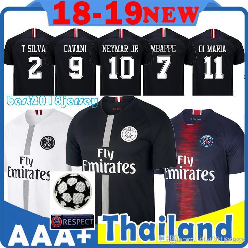 9cb750b211fb0 Acheter Top Maillot Paris Saint Germain Maillot PSG 10 Maillot Neymars 7  Mbappe Thai Qualité 18 19 Haut Maillot 9 Maillot Cavani 11 Maillot Di Maria  De ...