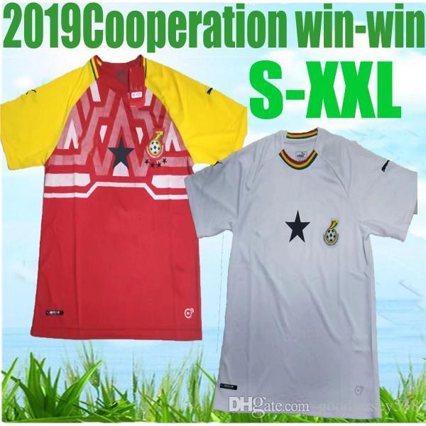 Ghana football team jersey BLACK STARS 2019 Africa Cup national team  football team jersey A GYAN A Ayew MUNTARI Asamoah J Ayew maillots foot