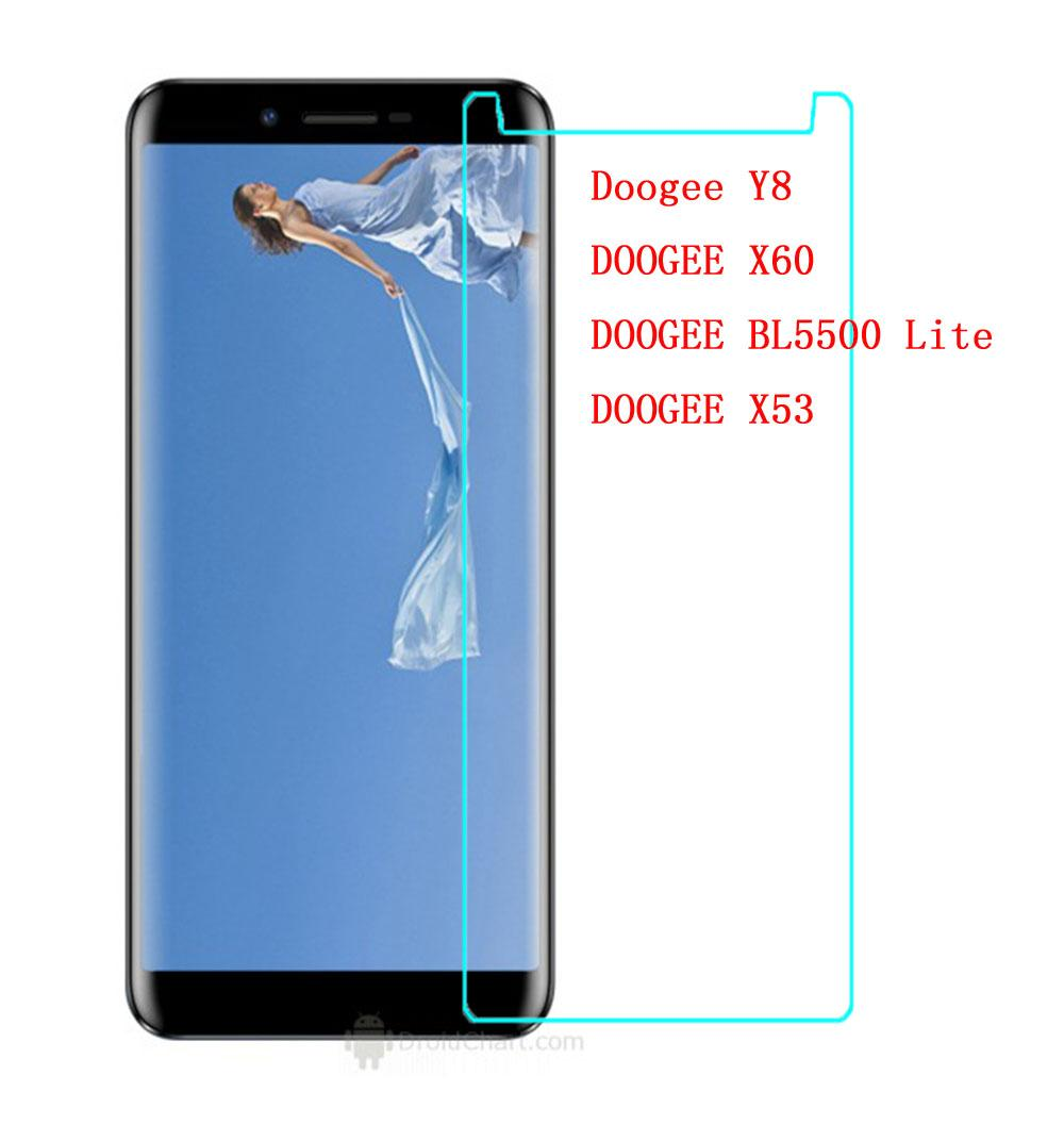 For Doogee Y8 Y 8 Tempered Glass 9H Protective Scratch proof Screen  Protector For X60 X53 BL5500 Lite Smartphone Glass Film