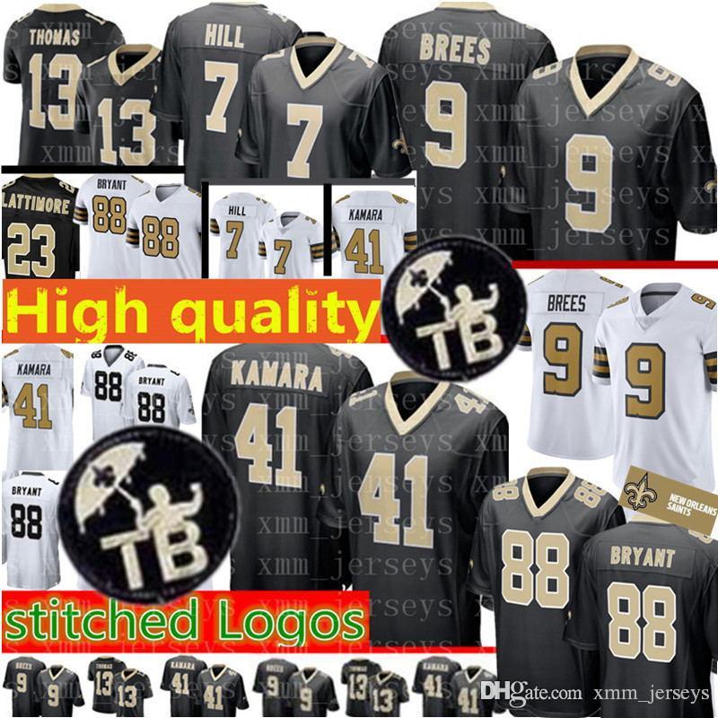New Orleans Saints 9 Drew Brees Jersey Mens 41 Alvin Kamara 7 Taysom ... 8e8c09b44