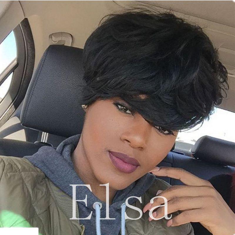 Short Pixie Cut Human Hair Wigs For Black Women Full Machine Made Wig  Brazilian Virgin Human Hair Wigs Women S African American Pixie Wigs Cheap  Hair Wigs ... 2171ca962f