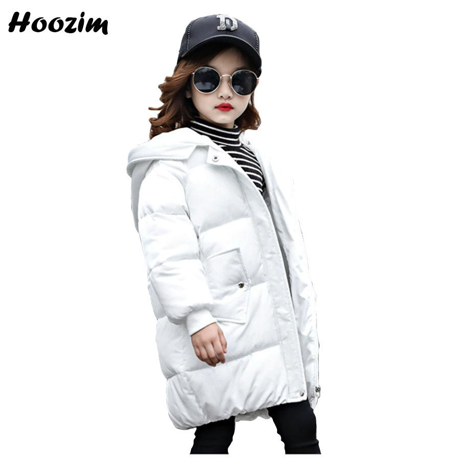 f82f7ee7962 Fashion White Parka Children Winter Thick Long Jacket For Girls 7 8 9 10 11  12 Years European Kids Outerwear Pink Coat For Girls Girls Rain Coat Cheap  Coats ...