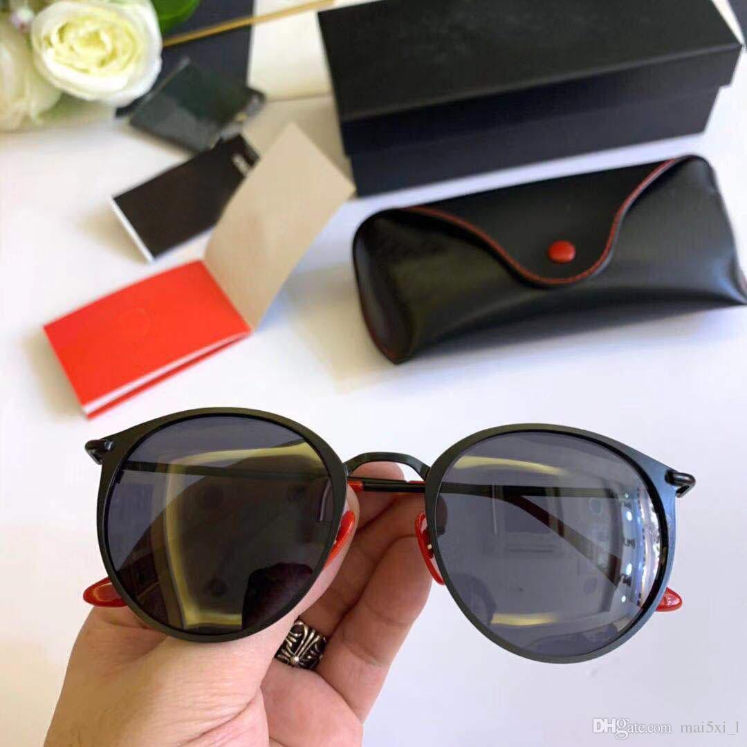 4137f94e7d Compre Ray Ban Classic Aviador Gafas De Sol Hombres Diseñador De La Marca  Mujeres Que Conducen Los Vidrios Del Espejo Gafas De Sol Masculinas Piloto  Gafas ...
