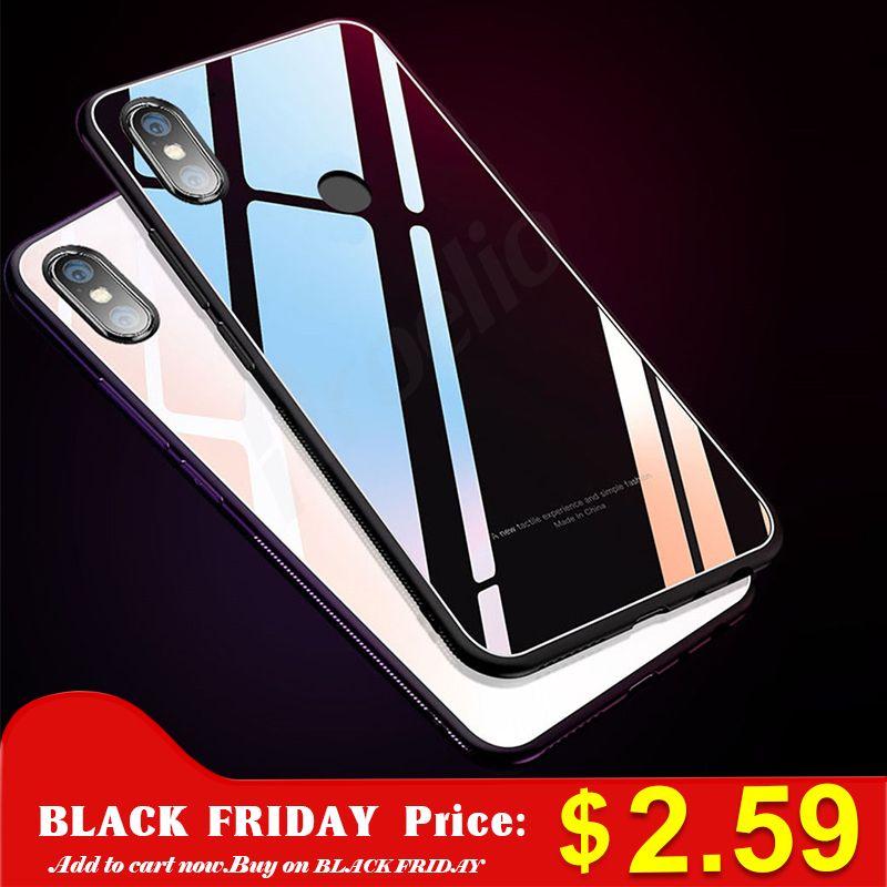 e4038a25c2b For Xiaomi Mi A1 Mi A2 Mi Mix 2s Case Tempered Glass Back Cover Phone Cases  For Xiaomi Redmi Note 5 Pro 5A Redmi 4X 5 Plus Mi8 Glitter Cell Phone Cases  ...