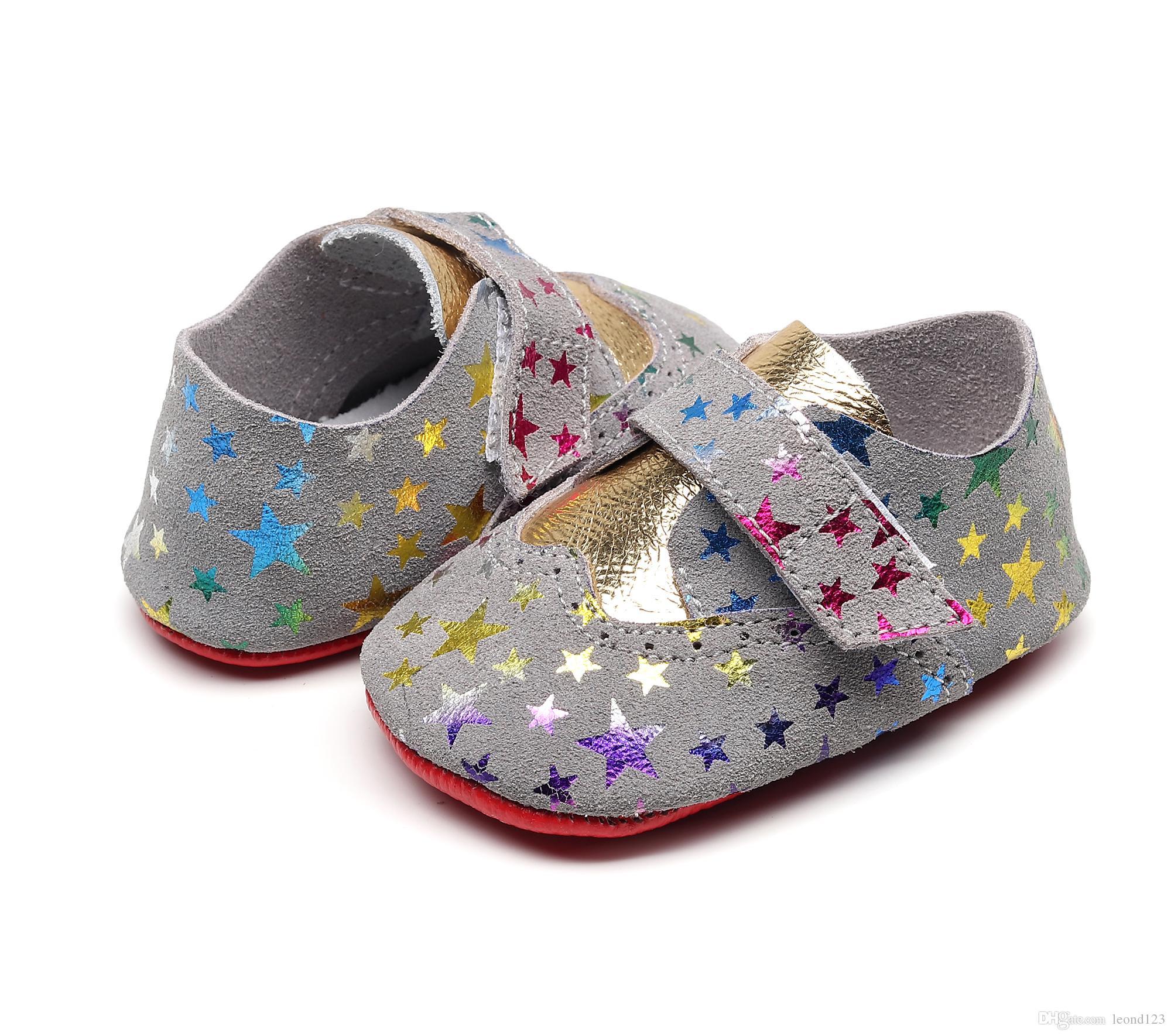 miglior sito web 5d61d 81ea1 2019 moda in vera pelle neonate ragazzi scarpe neonato mocassini suola  morbida antiscivolo presepe scarpe primi camminatori per 0-24 m