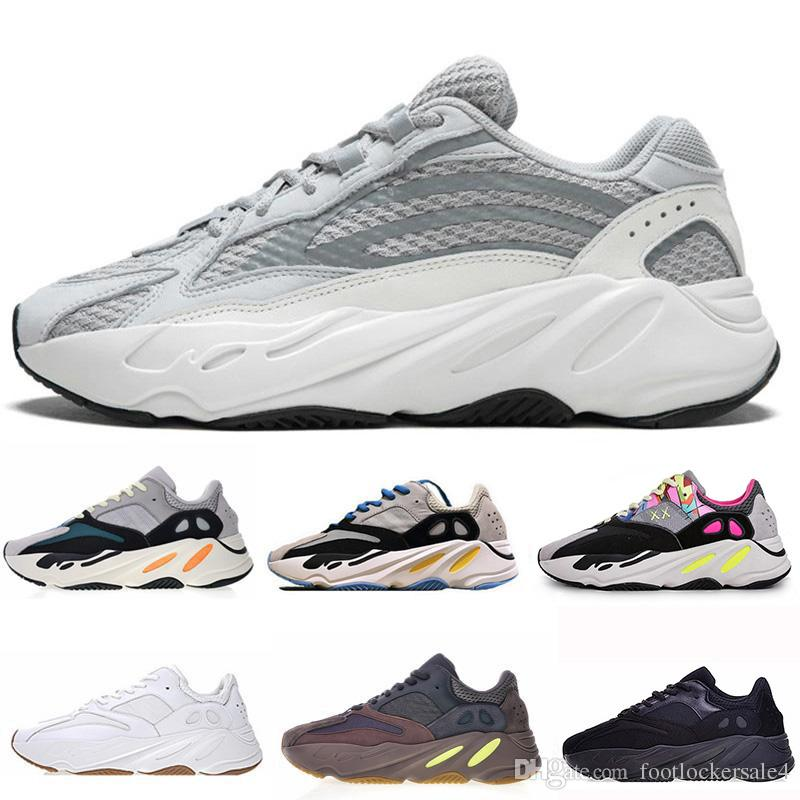 74e5d6c8c 2019 Kanye West 700 Wave Runner Running Shoes For Mens Womens 700s V2  Static Sports Sneakers Mauve Solid Grey Luxury Designer Shoes Size 36 46  From ...