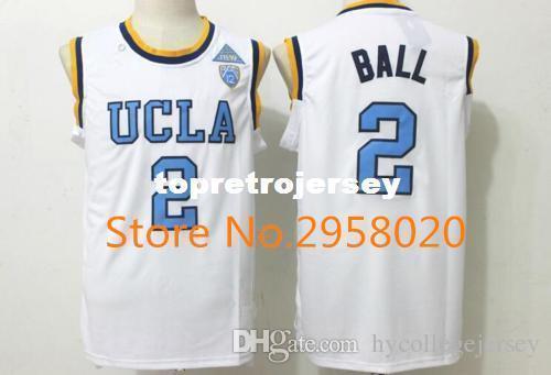 size 40 da06a 63c22 Cheap custom UCLA Bruins #2 Lonzo Ball White Blue Stitched College  University Basketball Jersey