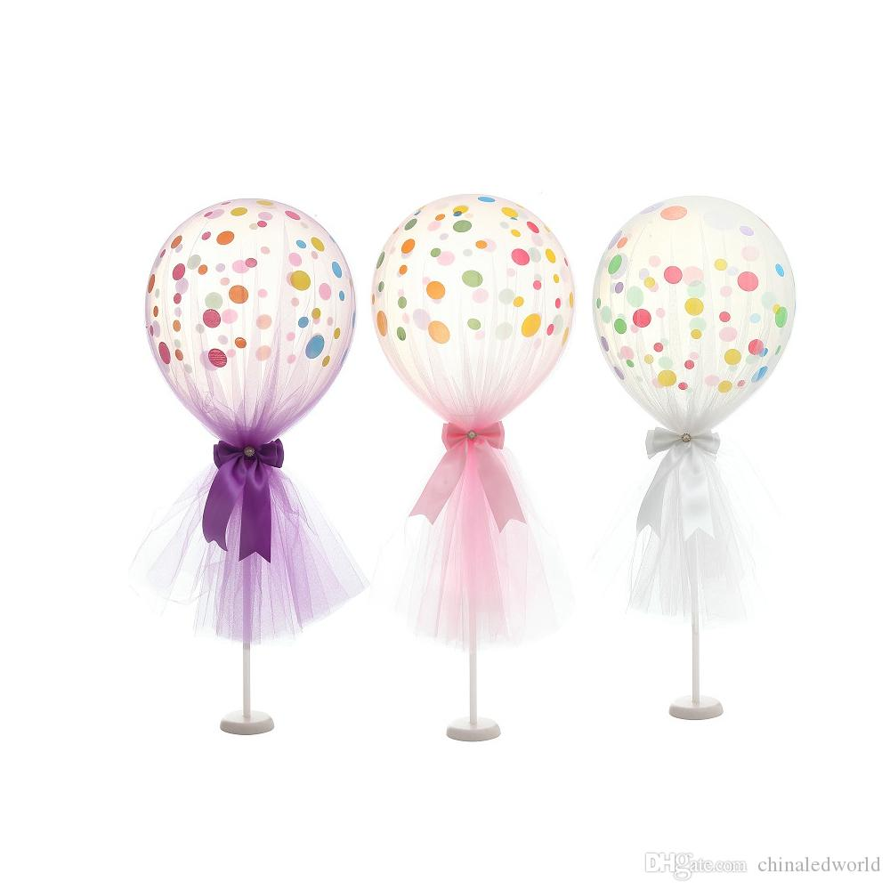 12 inch Tulle Polka Dot Balloon Kit for Birthday Wedding Party Valentine's Day Decoration