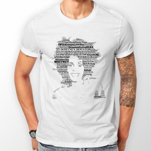 54ed367aa T Shirts & Hoodies Unisex WHITE Whitney Houston Music/Memorabilia FREEPOST  UK Cheap T Shirts Long Sleeve T Shirts From Kihalhabib, $10.85| DHgate.Com