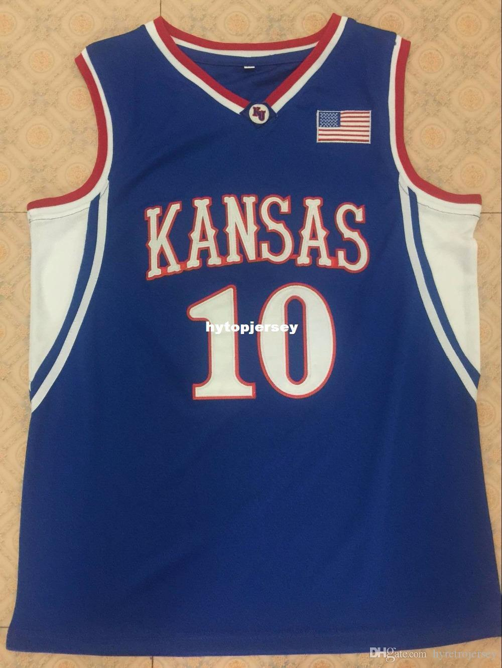 03-04 #10 KIRK HINRICH Topps Mark Of Excellence Auto Kansas Jayhawks Basketball Jersey Customize any number and name XS-6XL Vest Jerseys NCA