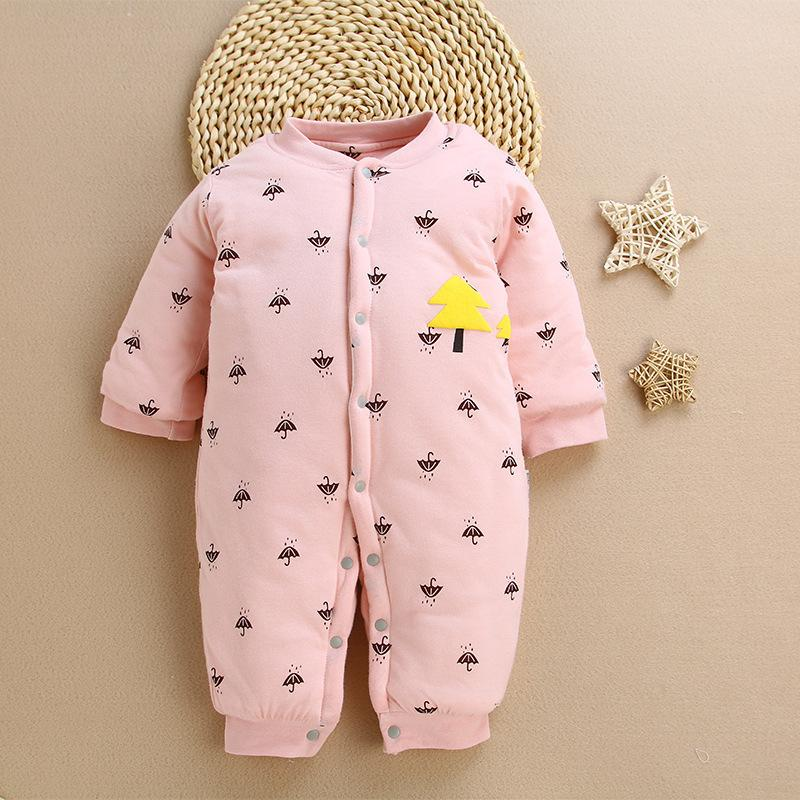 43fca4c78 2019 Baby Rompers 2018 Newborn Girls Winter Shick Cardigan Pajamas ...
