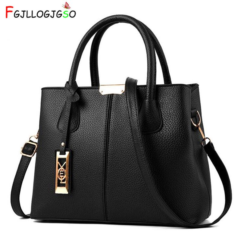 Fgjllogjgso Women's Handbag 2018 New Women Messenger Bag Casual Women Pu Leather Handbags Lady Classic Shoulder Bags Female Tote Y19061705