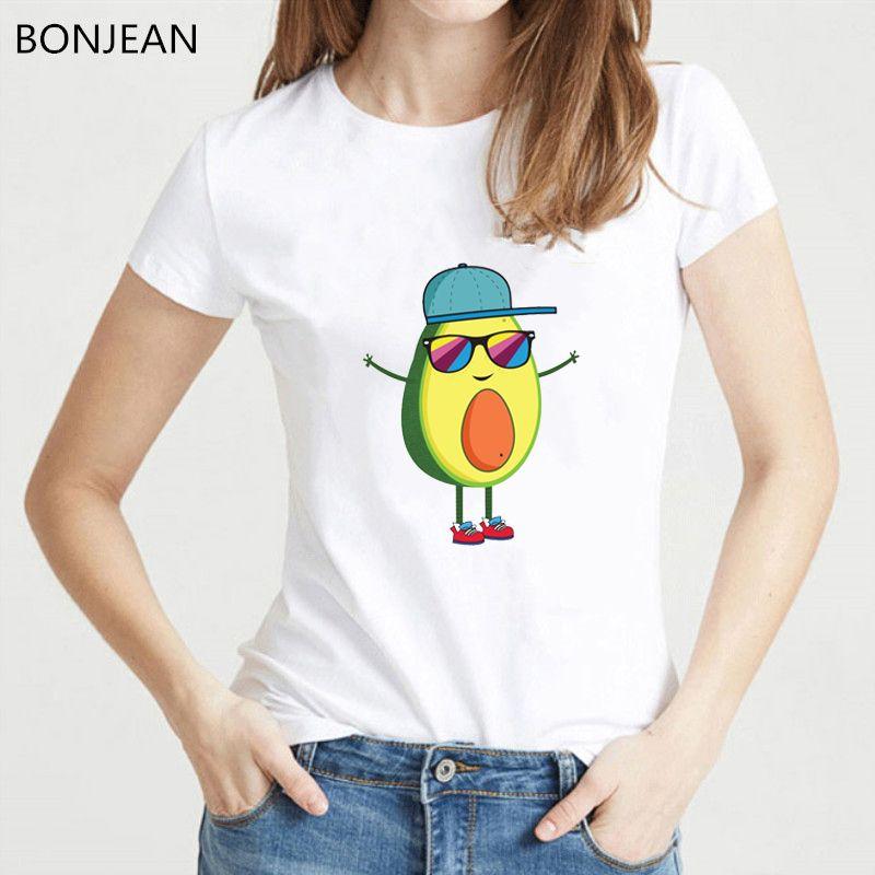 80f328abd5 Harajuku Kawaii Avocado Vegan T Shirt Women Funny Tshirt Femme Tumblr T  Shirt See You Avocado Graphic Print Tee Shirt Streetwear Funny T Shirts For  Men Make ...