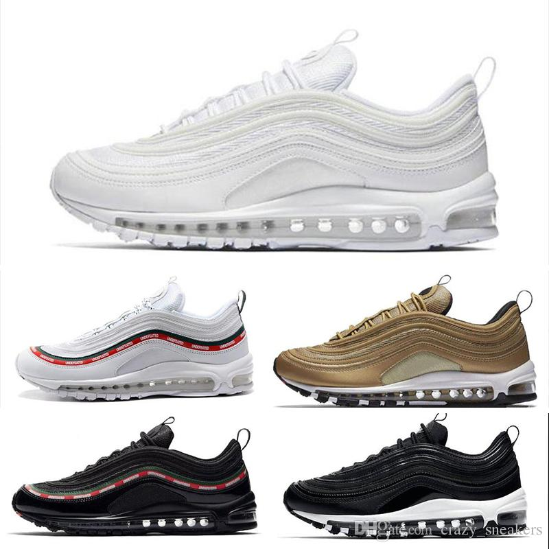 Nike Air Max 97 2019 Undefeated OG Ultra Hombre Mujer Zapatillas de running Silver Bullet Gold White Hombre Zapatillas de deporte Diseñador Zapatillas
