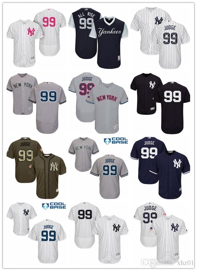 huge discount cd0a9 a1143 custom Men s Women s Youth Majestic Yankees Jersey 99 Aaron Judge All Rise  Detroit Baseball Jerseys