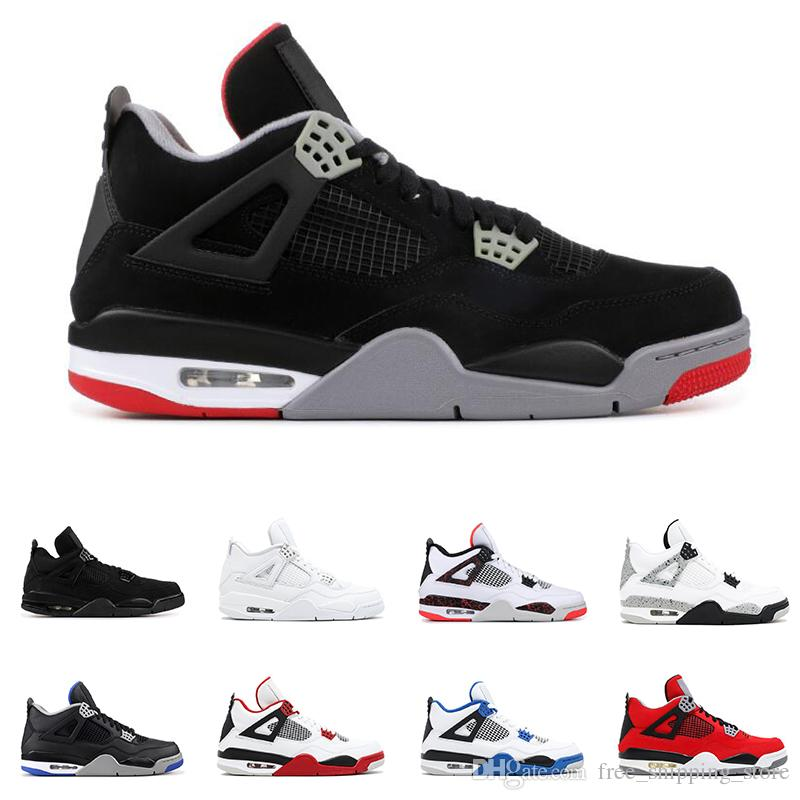 the latest ed75e 600af 4s 4 Basketball Shoes For Men New Bred WINGS ROYALTY WHITE CEMENT BLACK CAT  PURE MONEY Fire Red Mens Fashion Sports Sneakers Discount Shoes Online  Latest ...