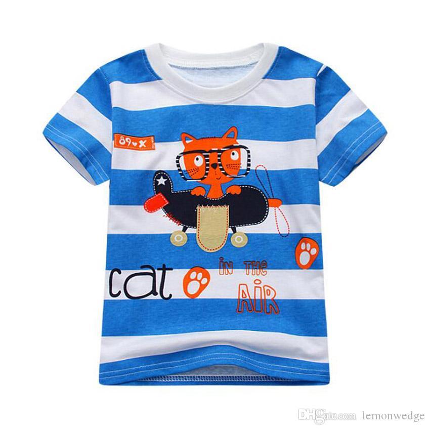 Compre 8 Diseño Nueva Moda Niños Camiseta De Algodón Para Niños Ropa Bebé  Niñas Tops Camiseta Para Niños Modelo Animal Camisetas A  27.64 Del  Lemonwedge ... e0d86baad93c4