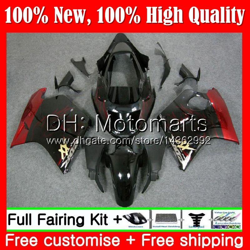 Обтекатель кузова для HONDA Blackbird Red flames CBR1100 XX 02 03 04 05 06 07 53MT20 CBR1100XX CBR 1100XX 2002 2003 2004 2005 2006 2007