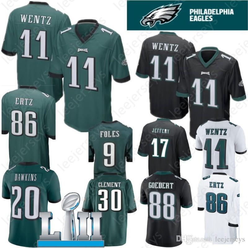 Philadelphia 9 Nick Foles 11 Carson Wentz Eagles Jersey 20 Brian Dawkins 86 Zach  Ertz 62 Jason Kelce 27 Malcolm Jenkins 36 Ajayi Jerseys Eagles Jersey 9 ... 419d77a78