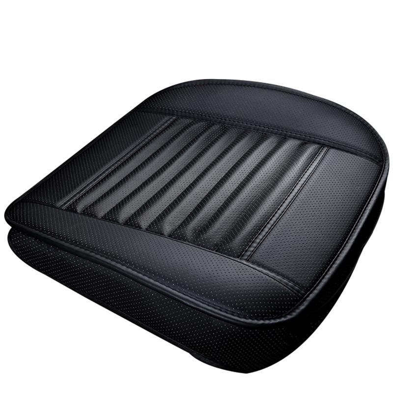 1 stück autositzbezug ohne rückenlehne pu leder bambuskohle autositz kissen autos schutzhülle rutschfeste abdeckung sitz