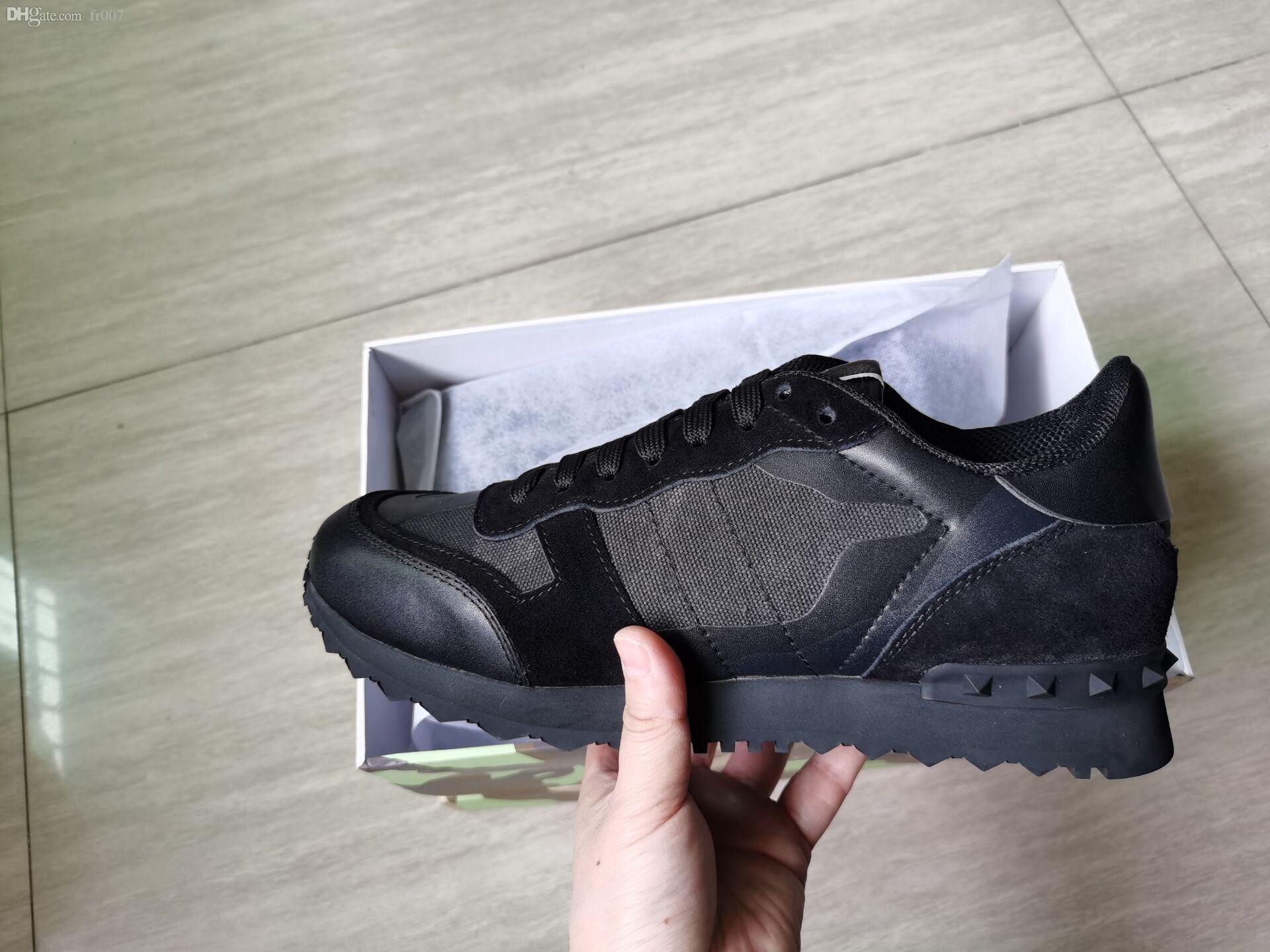 Moda Stud Camouflage Sneakers Scarpe Calzature Uomo Donna Appartamenti Scarpe Di Lusso Designer Stella Scarpe Casual 35-46