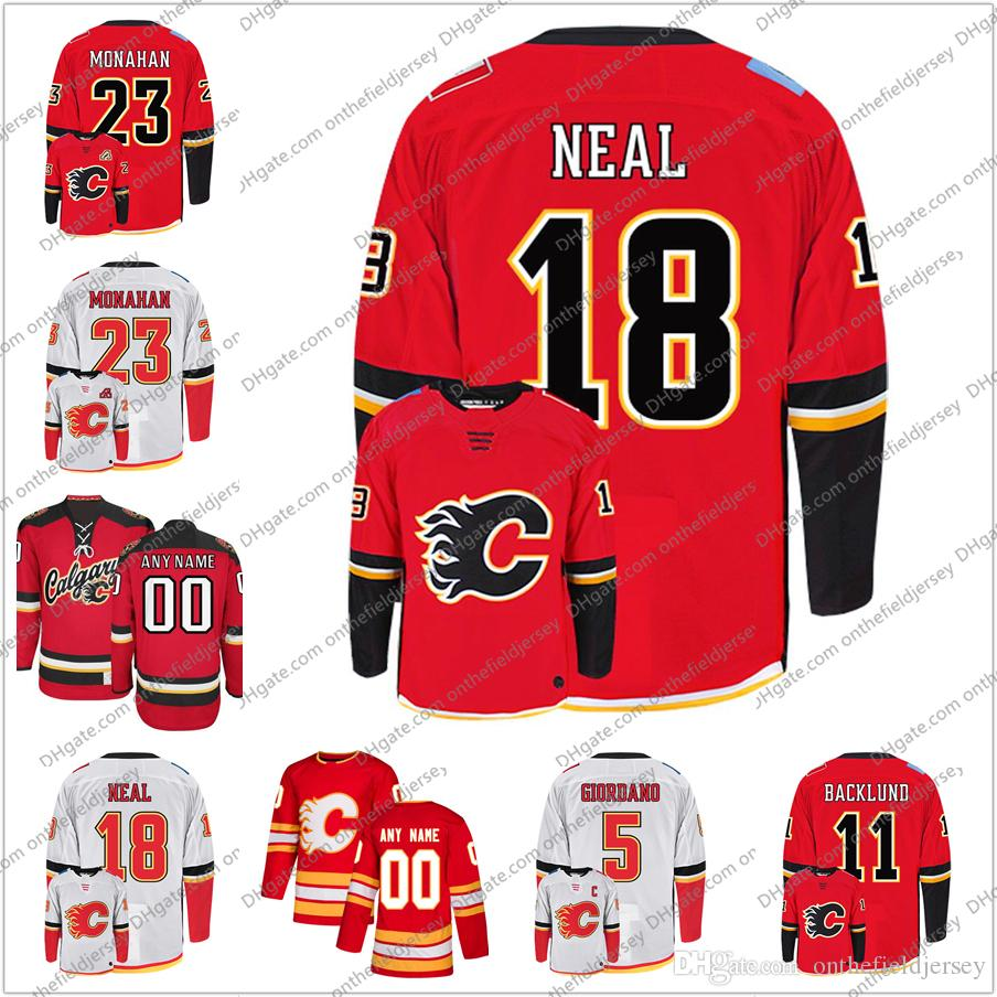 sports shoes 69c8b 93a02 Calgary Flames #18 James Neal 55 Noah Hanifin 28 Elias Lindholm 10 Derek  Ryan Stitched Ice Hockey Jerseys S-3XL