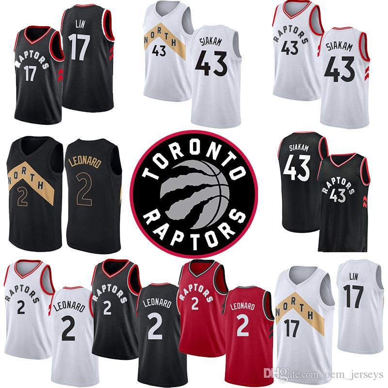 4d5018ce5 2019 2018 2019 Season Kawhi 2 Leonard Toronto 17 Jeremy Lin Raptors 43  Pascal Siakam White Black Red Cool Breathable Mens Jerseys From  Oem jerseys