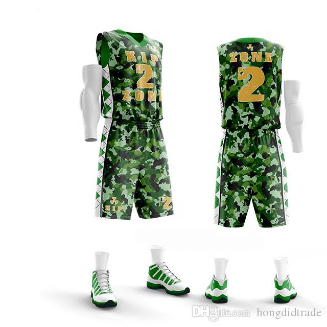 8a0d603255e 2019 Custom Men Basketball Uniforms Sports Sportswear Training Clothing  Breathable Basketball Sets Clothes Vest Sleeveless Shorts Jersey From  Hongdidtrade, ...