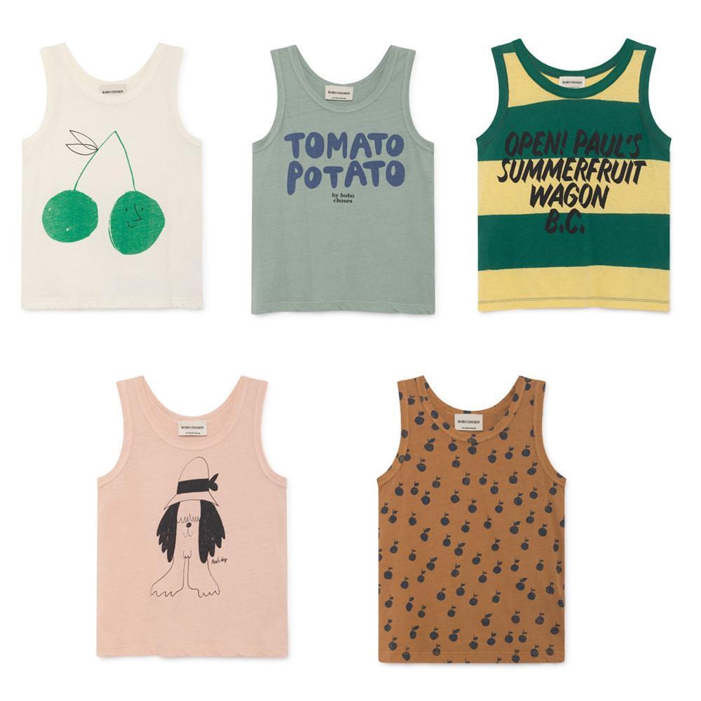 77a7d5020 2019 Bobo Choses New Arrivals 2019 Kids Summer Vest T Shirt For Boys ...